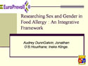 """Researching Sex and Gender in Food Allergy : An Integrative Framework """